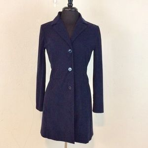 Like New Navy Button Front Blazer